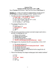 Answer Key Mid-term 2 Version A 2-27-08
