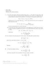 Phys200 Practice Final Exam Solutions 2005