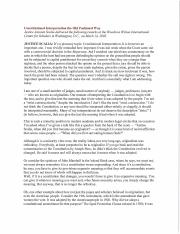 a critique of the speech given by william brennan at georgetown university in 1985 The five conceptions of american  the liberal justice william brennan and the swing  in a 1985 address at georgetown university that stands as one of .