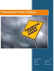 financial crisis in china.docx