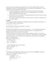 Recursion and Call Stack Notes