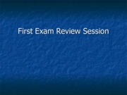 Legal Studies 2700 First Exam Review Session