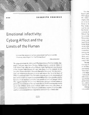 Asia 212_Lecture Notes on Emotional Infectivity - Cyborg Affect and the Limits of the Human