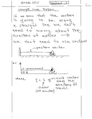 Lecture Notes on Straight Line Motion