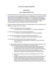 OL 501 Final Project Worksheets fINAL