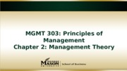 Chapter 2 Management Theory-F2F