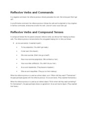 Reflexive Verbs and Commands