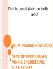 l2_Distribution_of_Water_on_Earth_1_.ppt