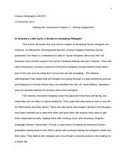 Making the Connection Chapter 3 Writing Assignment -1