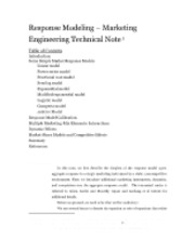 TN02 (Chap 1) - Response Models Technical Note