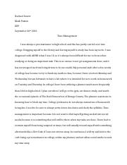 Time Management Paper Assignment-2