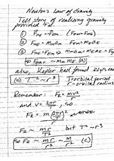 Newton's Laws of Gravity Notes