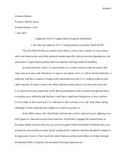 Critique 4 On U.S. Foreign Policies Toward the Third World..docx