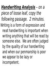 handwriting personality powerpoint.ppt