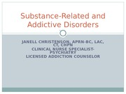 Addiction and Nursing Care PPT