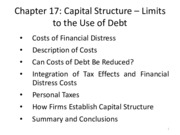 MGFC10_Chapter17_ Capital Structure_ Limits to the use of Debt