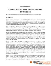 12. CONCERNING THE TWO NATURES OF CHRIST