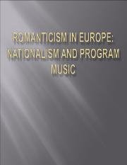 Romanticism_in_Europe_Nationalism And Program Music lecture notes power point