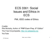 Lect 4-PMI-IEEE codes of ethics