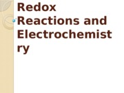 Updated Redox Reactions and Electrochemistry - Chem 114