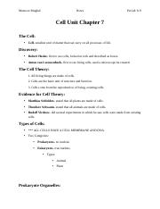 3 - Cell Unit Chapter 7 Notes.docx
