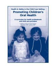 Oral Health Curriculum