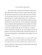narrative essay 1