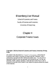 Bloomberg User Manual Chapter Four