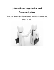 International Negotiation and Communication