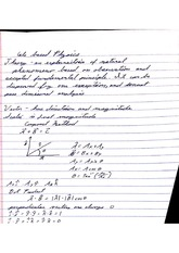 Class Notes web based physics