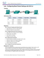 pdf lab configuring basic dhcpv4 on a switch answers