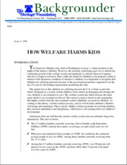 Rector for Heritage - How welfare harms kids