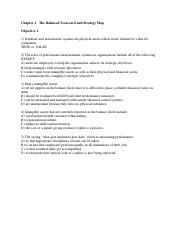 Chapter 2   The Balanced Scorecard and Strategy Map- STUDENTS' COPY
