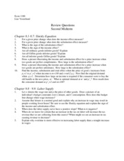 Review questions for Midterm 2