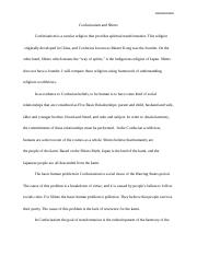 Extra credit essay, week 6, Confucianism and Shinto.docx