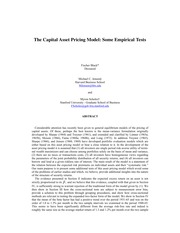 The Capital Asset Pricing Model Some Empirical Tests