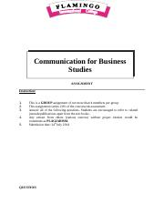 Assignment Communication for Business Studies May2014.doc