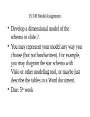 IS 549 : Data Warehousing - DePaul University - Course Hero