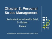 concepts of wellness ch3 personal stress management