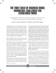 Three Faces of Business Model Innovation - Challenges for Established Firms.pdf