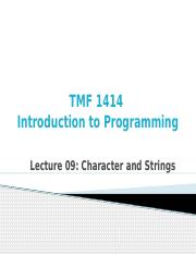 Lecture_09_Character_and_Strings