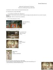 Renaissance and Baroque Europe study guide AHIS 2020 GTA Revision