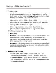 Biology of Plants Chapter 1