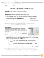 1 Solve When you mix two substances the heat gained by one ...