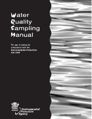 Water_quality_sampling_manual_for_use_in_testing_for_compliance_with_the_Environmental_Protection_Ac