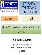 Unit-1(STLD) lecture 1 ppt - SWITCHING THEORY AND LOGIC