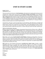 Anthro 102 UNIT II STUDY GUIDE SPRING 2015