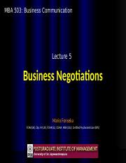 BC5 - Business Negotiations