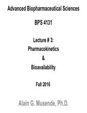 Lecture 3 Pharmacokinetics and Bioavailability.pdf