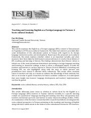 Teaching and Learning English as a Foreign Language in Taiwan- A  Socio-cultural Analysis.pdf